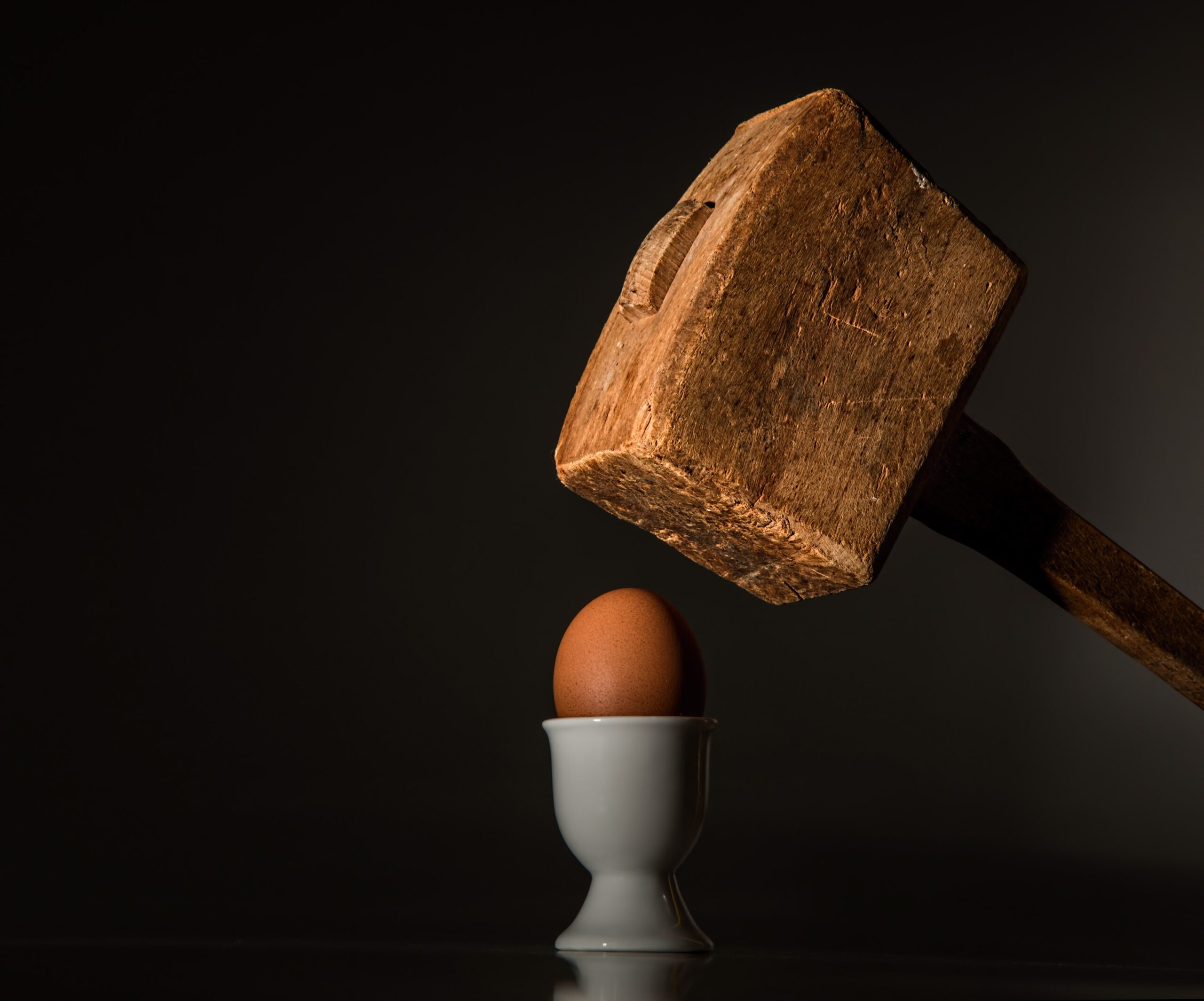 The Force of a Mallet onto an Egg