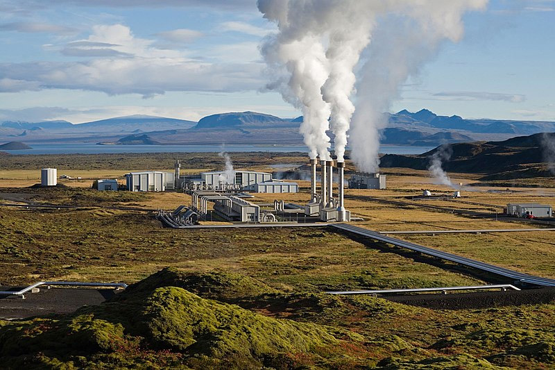 A Geothermal Power Plant in Iceland Using Heat Generated by the Earth's Interior