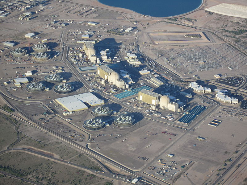 An Aerial View of the Palo Verde Nuclear Generating Station in Arizona
