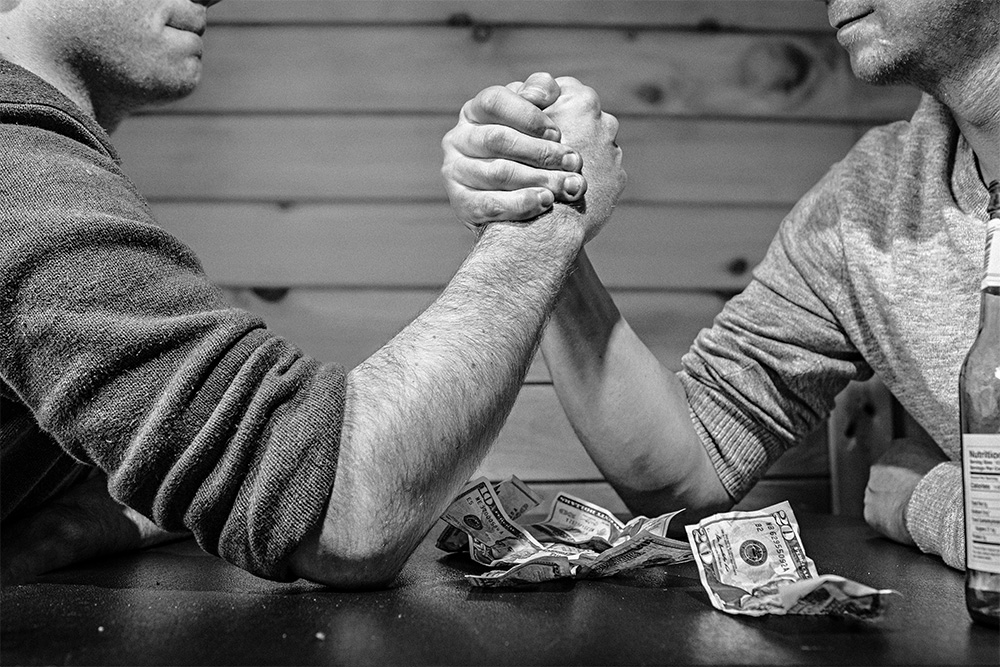 Arm Wrestling is an Example of Balancing Forces